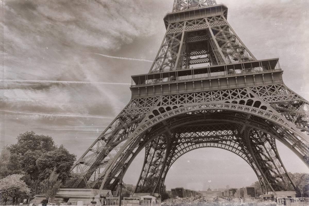Paris - Tour Eiffel - Noir et Blanc - Vintage - Façon 1900