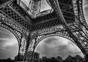 Paris - Tour Eiffel - Noir et Blanc