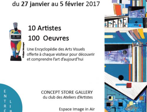 Exposition au Concept store Gallery du Club des Ateliers d'Artistes, à Imagin'air, en face de Beaubourg