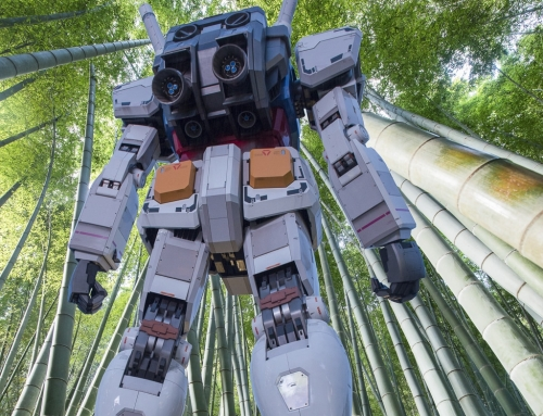 Gundam in the forest